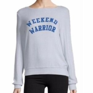 NWT Wildfox Baggy Weekend Warrior Sweatshirt